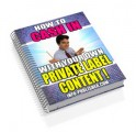 How To Cash In With Your Own Private Label Content Resale Rights Ebook