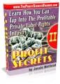 Profit Secrets I Resale Rights Ebook