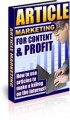Article Marketing For Content Profit Resale Rights Ebook