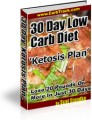 30 Day Low Carb Diet 'Ketosis Plan Resale Rights Ebook