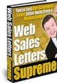 Web Sales Letters Supreme Resale Rights Ebook