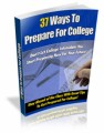 37 Ways To Prepare For College PLR Ebook