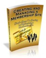 Creating And Managing A Membership Site Mrr Ebook