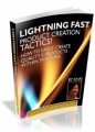 Lightning Fast Product Creation Tactics Mrr Ebook