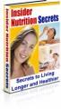Insider Nutrition Secrets PLR Ebook