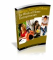 Saving Time And Money For Work At Home Entrepreneurs PLR Ebook