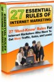 27 Essential Rules Of Internet Marketing Mrr Ebook