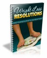 Weight Loss Resolutions PLR Ebook