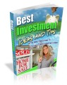 Best Investment Ideas And Tips Plr Ebook