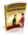 Interview Techniques Plr Ebook