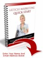 Article Marketing Quick Start Plr Ebook
