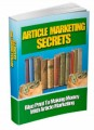 Article Marketing Secrets Mrr Ebook