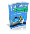 List Building For Profit Mrr Ebook