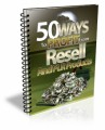50 Ways To Profit From PLR Products Mrr Ebook