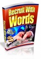 Recruit With Words Mrr Ebook