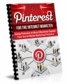 Pinterest For The Internet Marketer Plr Ebook