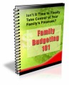 Family Budgeting 101 Plr Autoresponder Email Series