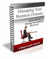 Managing Your Business Domain PLR Ebook