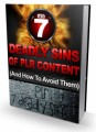 Seven Deadly Sins Of Plr Content Personal Use Ebook