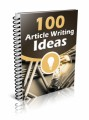 100 Article Writing Ideas Give Away Rights Ebook