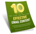 10 Tips For Effective Email Content MRR Ebook
