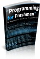 Programming For Freshman Plr Ebook