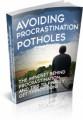 Avoiding Procrastination Potholes Plr Ebook