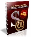 The Top 10 Critical List Building Mistakes Plr Ebook