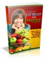 How To Eat Right And Manage Your Life Plr Ebook