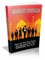 Network Marketing Resolutions Plr Ebook