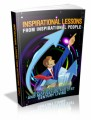Inspirational Lessons From Inspirational People Plr Ebook